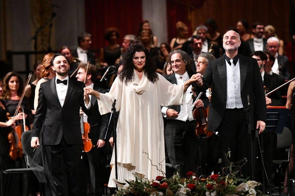Foto  Roberto Ricci- Enrico Fagone, Fiorenza Cedolins, Michele Pertusi