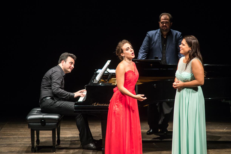 Eleonora Bellocci, Celso Albelo, Annalisa Ferrarini e il pianista Davide Cavalli