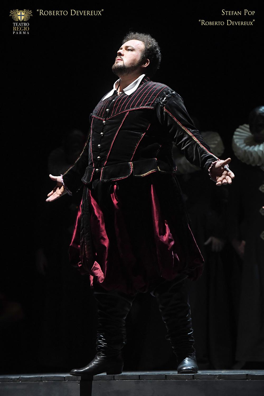 Stefan Pop nel ruolo di Roberto Devereux - foto Roberto Ricci