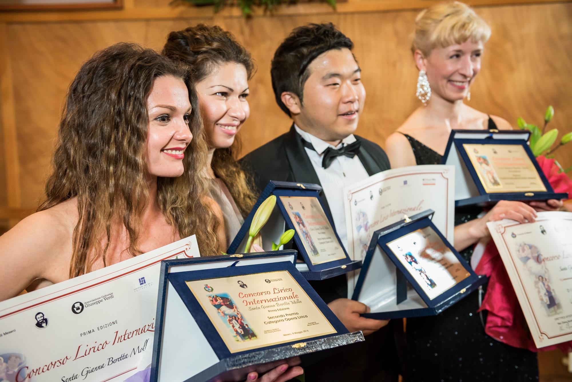 i quattro vincitori da sx: Liudmila Lokaichuk, Elizaveta Martirosyan, Hun Kim e Anna Kufta